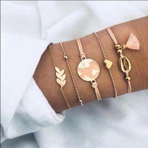 5PC BOHO Bracelet set tassels world 🌎